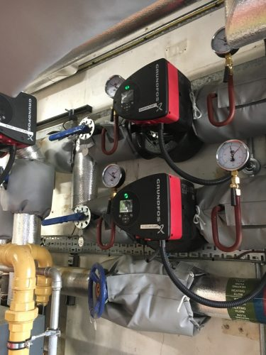 Commercial boiler installed by Putney Plumbers in a Fulham nursery